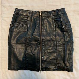 H&M faux leather mini skirt 6